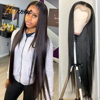 Lace Wigs Heycome 13x4 Straight Front Wig Human Hair For Black Women 30 Inch Full Hd Transparent Frontal Brazilian BOB