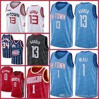 هيوستنالصواريخJersey James 13 Harden Jerseys كرة السلة Hakeem 34 Olajuwon Chris 3 بول راسل 0 Westbrook John 1 Wall Wall