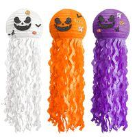 Хэллоуин фонарик медузы тыква бумаги фонарь кулон привидения о привидении дом украшения вечеринки висит фонарики реквизиты OWA8622