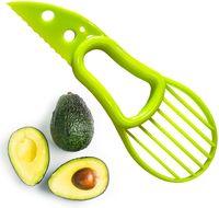 3 in 1 Avocado affettatrice multi-funzione utensili da frutto taglierina coltello coltello pelapato di plastica separatore shea corer burro gadget cucina utensile verdure YL0309