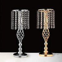 Party Decoration Exquisite Flower Vase S-shaped Candlestick Bracket Stand Golden Silver Wedding Table Centerpiece Road Lead Home Decor