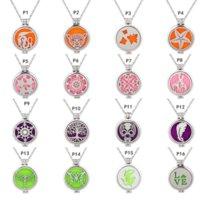 Wholesale Custom Pattern Round Locket Essential Oils Perfume Diffuser Aromatherapy Necklace Pendant