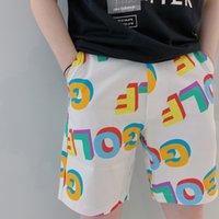 Erkek Tasarımcı Yaz Şort Pantolon Golf Wang Tüm üzerinde 3D Logo Yüksek Sokak Moda Günlük