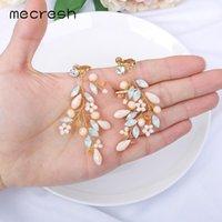 Mecresh Opal Marquise Crystal Gold Color Hoja Clip Clip en pendientes sin perforación Joyería de fiesta para mujeres 2021 Tendencia EH1794 Cuelga Chan