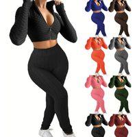 Pantaloncini da donna Set Tracksuits Due pezzi Outfits Sling Zipper Jogger Suits Tank Top + Shorts Solid Color sweatsuit