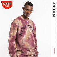 Nagri European and American Fashion Brand Automne Hiver Kanye Même Style Vieux Cravate Tye Sunday Pull # M47Q
