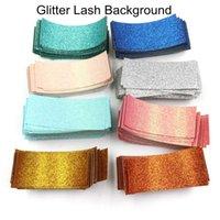 False Eyelashes 100 200pcs Glitter Background Paper For Sliding Case Packaging Accessories Eyelash Lash Box