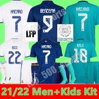 Gerçek Madrid Jerseys 21 22 Futbol Futbol Gömlek Alaba Tehlike Benzema Asensio Modric Marcelo Camiseta Ev Uzakta 3rd Erkekler + Çocuk Kiti 2021 2022 Üniforma