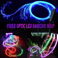 Party Decoration LED Fiber Optic Whip Glow Gloves Multicolor Dance Light Up Rave Toy Festival Stick
