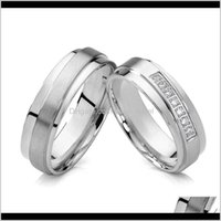 Never Fade Handmade Mens And Womens Set For Couples Titanium Jewelry Alliance Love Marriage Ring Ztfvd W4Z8H