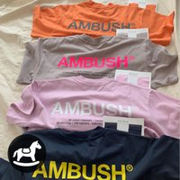 Ambush T-shirt Pembe Mavi Turuncu Kahverengi 11 Yüksek Kalite 3 M Yansıtıcı T Gömlek Wen Yaz Tarzı Pusus Top Tees