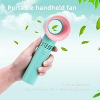 Electric Fans Portable Bladeless Fan Handheld USB Rechargeable Mini Cooler No Leaf Handy Cooling Air Desktop
