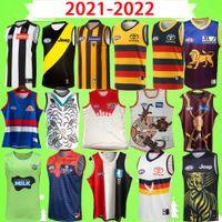 Presell 2021 2022 AFL Western Bulldogs Rugby Jerseys 21 22 Richmond Brisbane Lions Port Adelaide Hawthorn Essendon Melbourne Crows GWS Giants League Camisas Vest