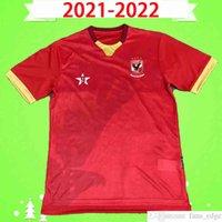 2021 2022 El-Ahly Spor Kulübü Futbol Forması Mısır Cairo Futbol Gömlek Üst Üniforma 21 22 Ev Kırmızı Siyah En Kaliteli Boyutu S-2XL
