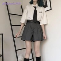 Women's Tracksuits Woman's Suit 2021 Solid Loose T-shirt + Shorts Women Clothes 2-piece Set Korean Western Style Fashion Autumn Thin Sets