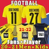 Dortmund Soccer Jersey Borussia 21 22 quarto 4 ° 2021 2022 Camicia da calcio Haaland Reus Neongelb Bellingham Sancho Hummels Brandt Men + Kid Kit Kit Maillot de Piede