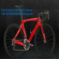 Kırmızı Karbon Yol Bisikleti RB1K Bir Yol Karbon Komple Bisiklet 105 R7000 Groupset Tam Karbon Bisiklet Yarışı Bisikleti