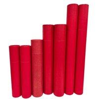Tube en carton rouge PCS pour Blueprints Art Coteur Cylindre de conteneur peut afficher la peinture de la souris PAD PAD PECT A1A2A3A4 Papier Cadeau cadeau