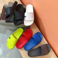 Terlik 2021 SS Slaytlar Erkek Bayan Paris Yaz Plaj Slayt Sandalet Konfor Çevirme Deri Geniş Bayanlar Chaussures Ayakkabı Kutusu Ile