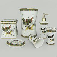 maison usage salle de bain en porcelaine 6piece maison publique maison coloré modèle modèle céramique os chine