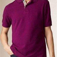 Англия мода твердые мужчины поло рубашку поло Лондон с коротким рукавом тонкий человек спортивные футболки повседневные Camisa Polos Teers фитнес топы красный белый фиолетовый