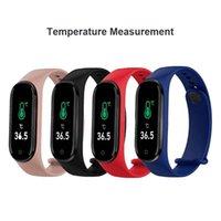 2021 Smart Wristbands M4 Pro Body Temperature Bracelet Smartband Vecosry Watch Heart Rate Monitor Fitness Tracker Activity Blood Pressure