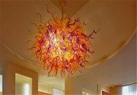 CE UL-Zertifikat Geblasenes Glas Kronleuchter Runde Geformte Kunst Design Murano Pendelleuchten Hoteldekor Deckenleuchten