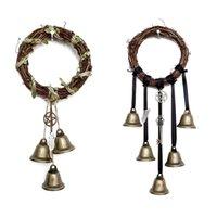 Objetos decorativos figurines bruja campanas Protección para la perilla de la puerta Percha de viento Chimes Witchy Cosas de brujería Borrar Energía negativa Britchcraft Wicca