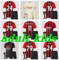 Adulte Boys 2021 2022 AC Ibrahimovic Milan Soccer Jerseys 21 22 Pateque Paquetta Theo Rebic Football Shirts Hommes Kids Kits Uniformes
