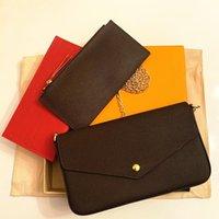I più nuovi designer di lussurys borse borse borse moda donne borse a tracolla di alta qualità Borse a combinazione a tre pezzi 21 * 11 * 2 cm 61276 con scatola
