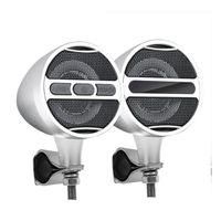 Motorcycle Car Bluetooth Audio Speaker High Performance Waterproof ATV UTV RZR Heavy Bass Boat System MP3 White Black