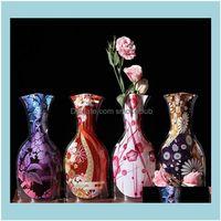 Vases Décor & Garden8 Styles Eco-Friendly Foldable Folding Flower Clear Pvc Vase Wedding Party Creative Household Novelty Items Home Sn815 D