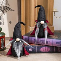 Party Supplies Halloween Handmade Tomte Toy Swedish Gnomes Ornaments with Witch Cloak Hat Christmas Doll Decor For Home