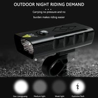 Bike Lights 5xT6 Lamp Beads Headlight USB Charge Rotatable Waterproof Bicycle Safety Warning Night Riding Accessories
