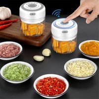 Ajo Master Press Herramienta USB Inalámbrico eléctrico MinCULA Vegetal Chili Carne Grinder Food Crusher Chopper Cocina Accesorios GWD5777