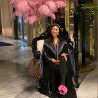 Ethnic Clothing Plus Size 2021 Kaftan Abaya Dubai Muslim Dress Kimono African Dresses For Women Open Abayas Turkish Chiffon Hooded Elegant