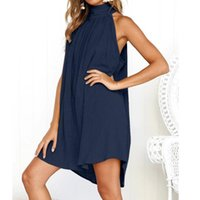 Women's Clothing Jersey Dress Summer Women Sexy Casual Polyester Solid Dresses 2021 Woman