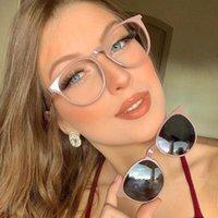 Óculos de sol ímã Ótico clipe Óculos quadro mulheres vintage retro rodada moda alta qualidade 2 em 1 mulher sol 2021