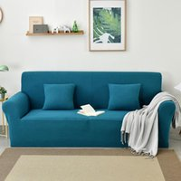 Chair Covers 15 Colors Jacquard Fabric Sofa Cover For Living Room Soft Couch Stretch Slipcovers Big Elastic Protector