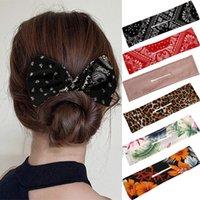Impressão De Moda Deft Bun Maker Bandas de Cabelo Multicolor Headband Malhador Makers Tecido Knotted Cabelo Cabelo Cabelo Acessórios De Cabelo
