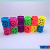 24 Pcs Lot Rainbow Spring Magic Colorful Children Funny Classic Toy Small For Q0115 Toys Gifts Novelty Gag G 6Uepw