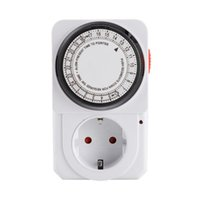Timers 24Hour Cyclic Timer Switch Kitchen Outlet Loop Universal Timing Socket Mechanical 16A UK EU Plug Protector