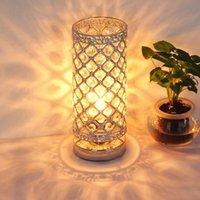 Masa Lambaları Ev Yatak Odası Kristal Lamba Işık Güzellik Gözetimi Masası Başucu Okuma Odası Oturma LED Gece Armatürü