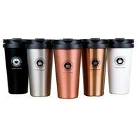 زجاجات المياه 500 ملليلتر BPA مجانية السفر القهوة القدح المحمولة روز الذهب زجاجة أكواب عسكرية الفولاذ المقاوم للصدأ معزول كأس الباردة شاكر