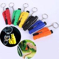 Life Saving Hammer Key Chain Rings Portable Self Defense Emergency Rescue Car Accessories Seat Belt Window Break Tools Safety Glass Breaker Mini Keychains Holder