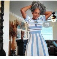 Человеческий хвост для волос Drawstring серебристый серый кусок волос короткий высокий клип в серый kinky kinhtail 120g 100g 140g