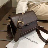 Shoulder Bags Fashion Female Ladies Flap 2021 Strap PU Letter Soft Zipper Solid Crossbody Women's Handbags Casual Totes
