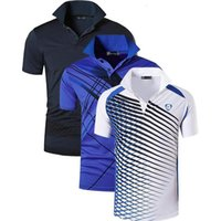 Jeansian 3 Pacote dos homens do esporte dos homens camisas polos polosos poloshirts tênis de golfe badminton seco encaixar manga curta lsl195 packe