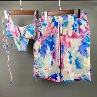 Designers Womens Maillots de bain Bikinis Two Pièce Colorful Letter Imprimer Mesdames Maillot de bain Sexy Piscine Party Vacances