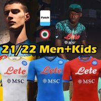 2021 2022 Napoli Soccer Jerseys Burlon Maradona Maglietta Da CalciaTore Osimhen Insigne 21/22 SSC Naples Maglia Mertens Men Kids Kids Chemise de football Thaï